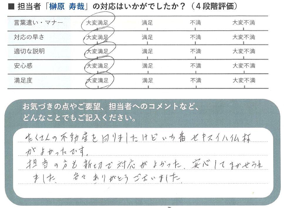 静岡市葵区の土地をご売却されたS.M様から頂いた声
